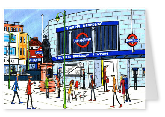 Illustration du Sud de Londres, l'Artiste Dan Brillante nouvelle tooting