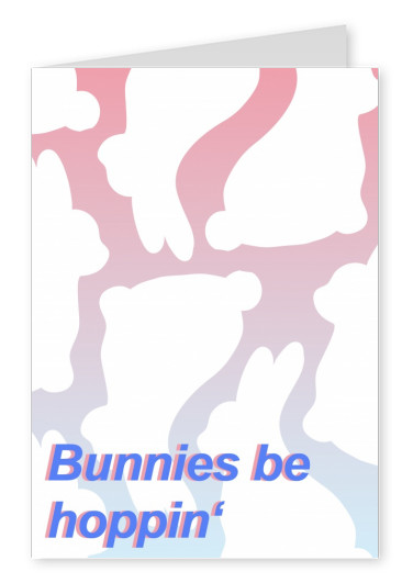 Bunny-Pattern with colorful font