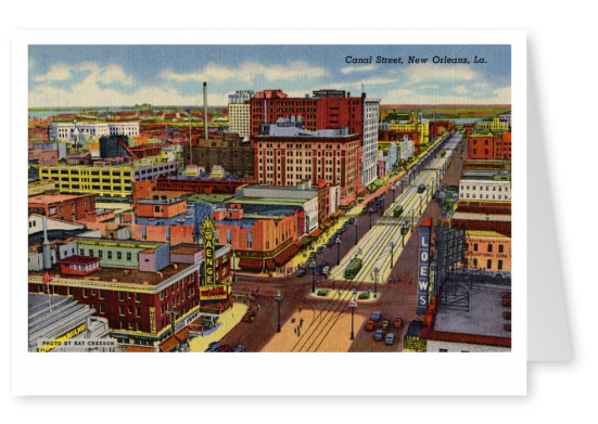 Curt Teich Postcard Archives Collection Canal Street, New Orleans, La.