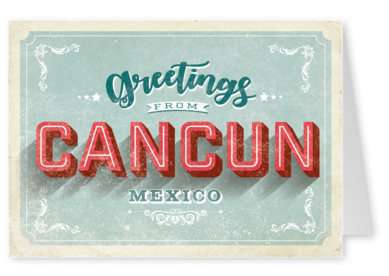 Vintage postcard Cancun