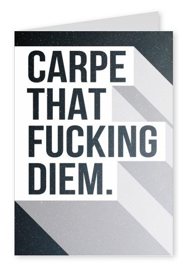 carpe diem quote postcard