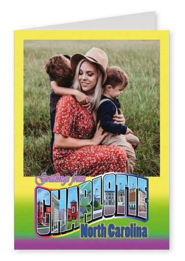 Large Letter Postcard Site Greetings from Charlotte, North Carolina