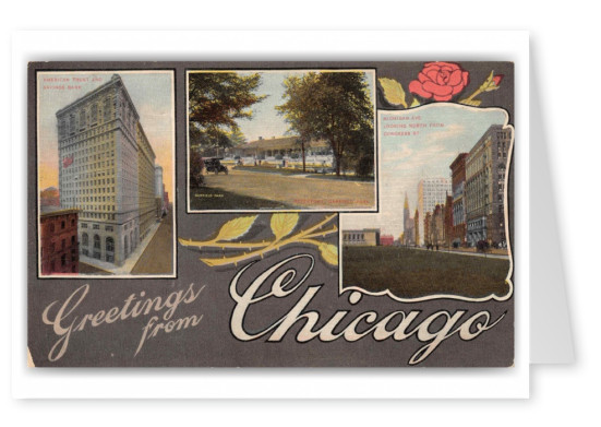 Chicago Illinois Michigan Avenue Garfield Park Greetings