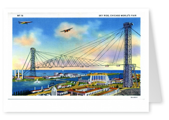 Curt Teich Postcard Archives Collection Sky Ride, Chicago's World Fair