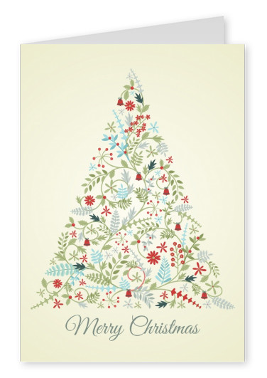ornament christmas tree greeting card
