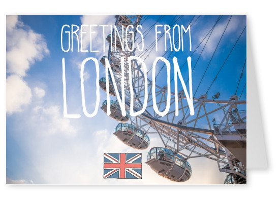 greetingcard with a photo of Londoneye
