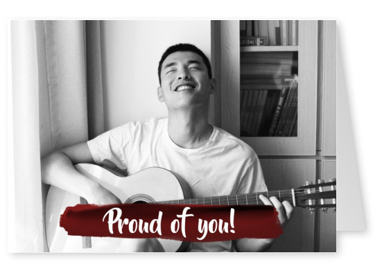Proud of you - lettering on seal stamp - colour in template