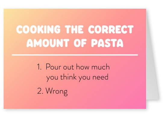 Cooking the correct amount of pasta