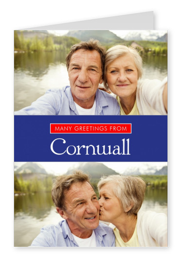 Cornwall in Union Jack-style colours and font