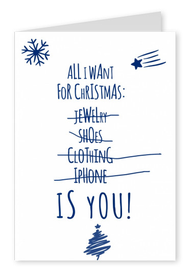 romantic quote christmas wishes greeting card