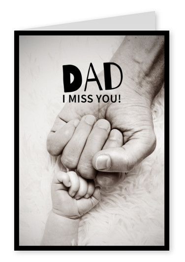 dad i miss you quote postcard design