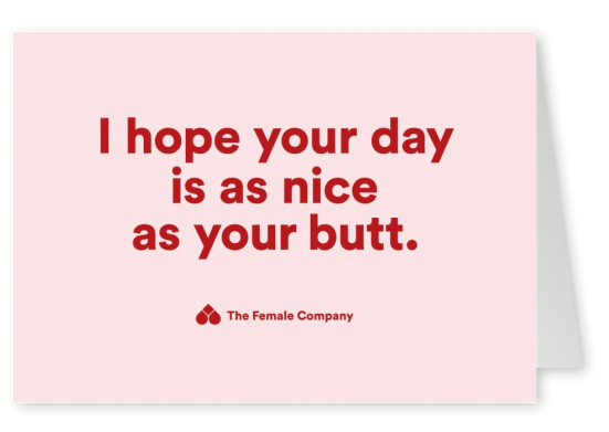 THE FEMALE COMPANY postcard  I hope your day is as nice as your butt
