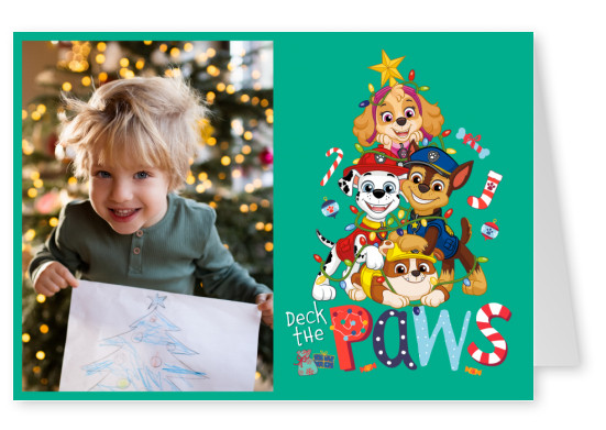 PAW Patrol postcard Deck the paws