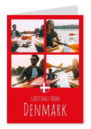 postcard Greetings from Denmark