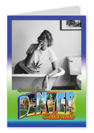 Large Letter Postcard Site Greetings from Denver, Colorado