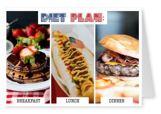 funny card US diet plan