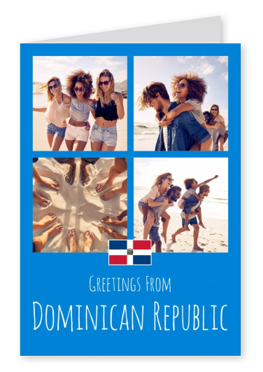 greeting card Greetings from Dominican Republic