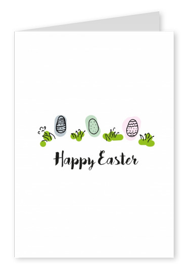 Happy Easter Eggs Doodle Happy Easter Cards Send Real Postcards Online