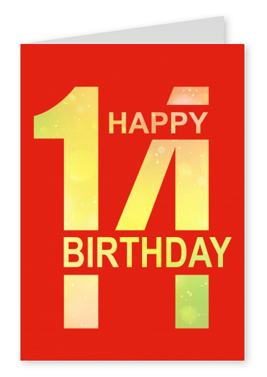rote postkarte design happy birthday 14