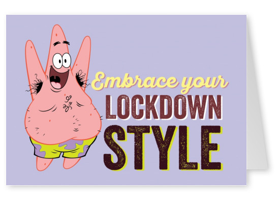 Embrace your lockdown style - Patrick Starfish with armpit hair and happy