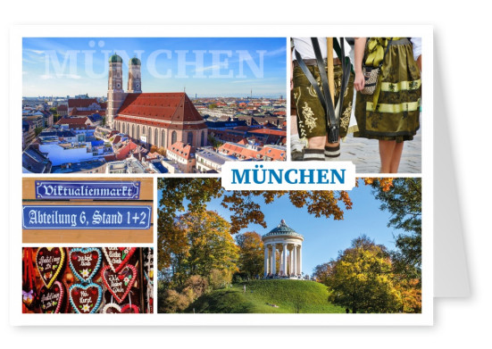 collage de photos de Munich, lieux d'intérêt