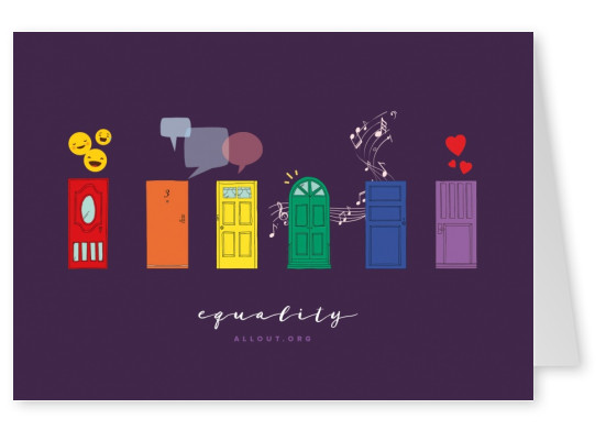 greeting card ALL OUT equality