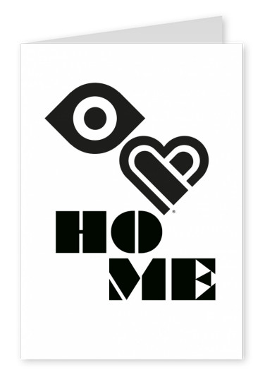 Eye-love home black and white