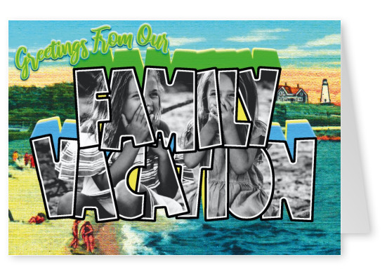 Large Letter Postcard Site Greetings from our family vacation