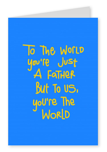 Father's day card handwritten