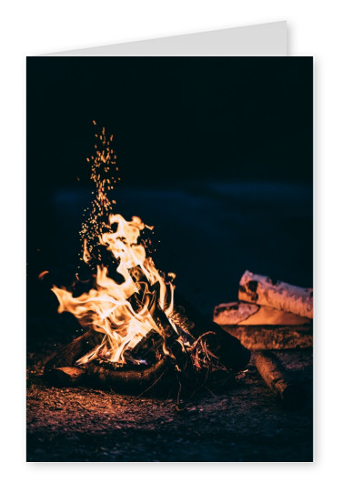 Card with Bonfire