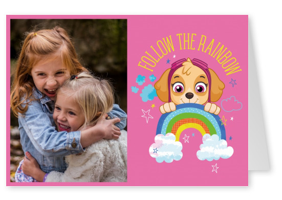 PAW Patrol postcard Follow the rainbow