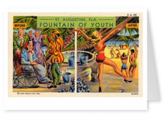 Curt Teich Postcard Archives Collection Fountain of youth St Augustine, Florida