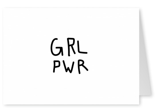white Card with typography grl pwr
