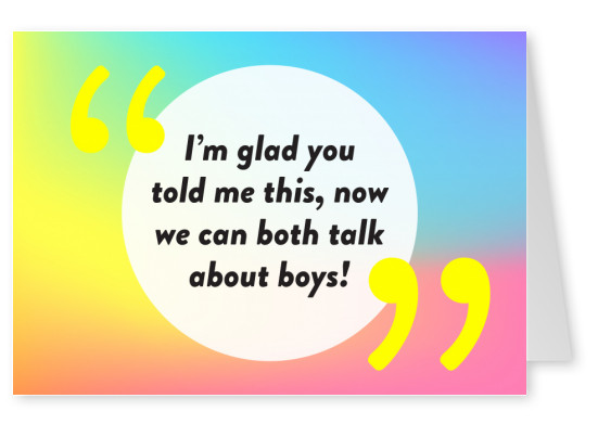 Glad you told me - Pride Cards