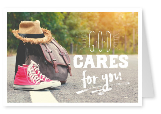 postcard SegensArt God cares for you