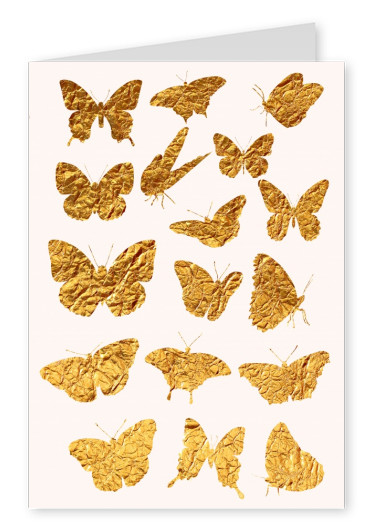 Kubitstika golden butterflies