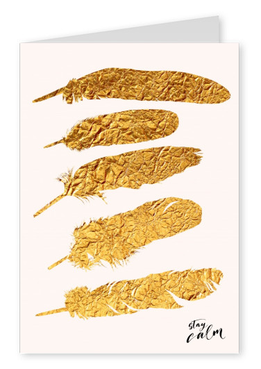 Kubistika guess what, more golden feathers