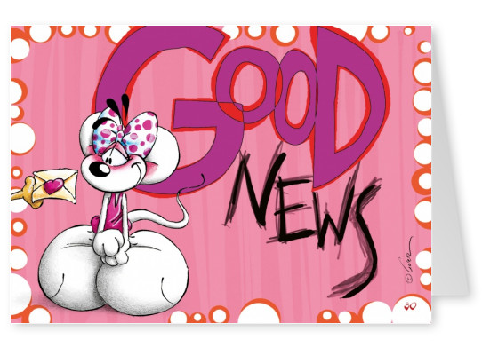 good news diddl mouse postcard picture