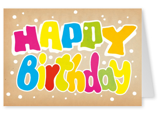 Graffiti Postcard Greeting Card Happy Birthday