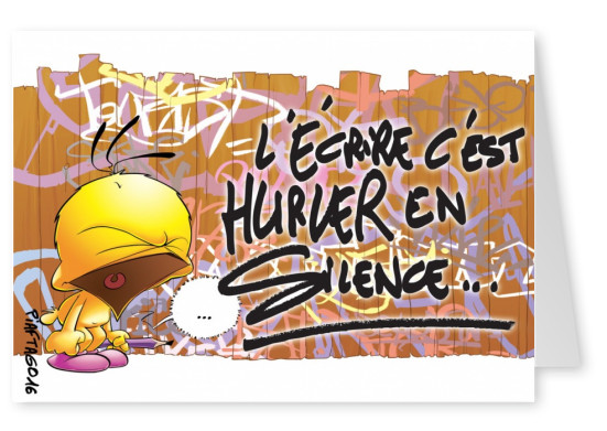 Le Piaf quote Graffiti tag Silcence