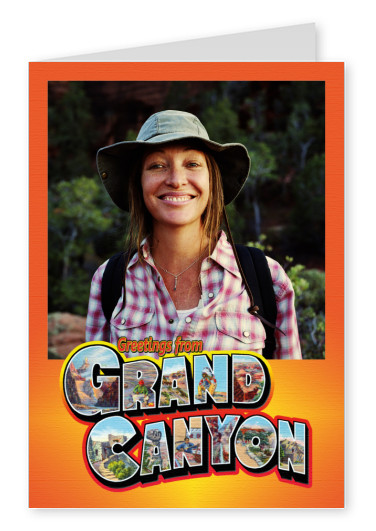 Postcard greetings from Grand Canyon
