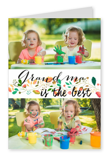 personalized greetingcard saying grandma is the best