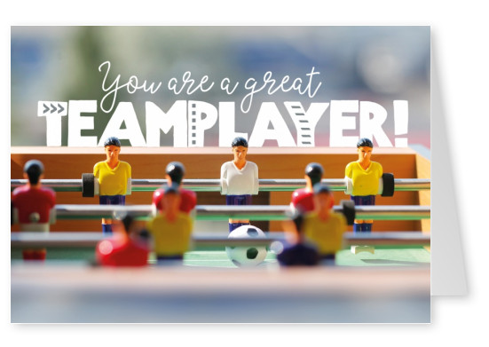 postcard Joy You are a great teamplayer