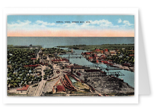 Green Bay Wisconsin Aerial ViewTowards Water