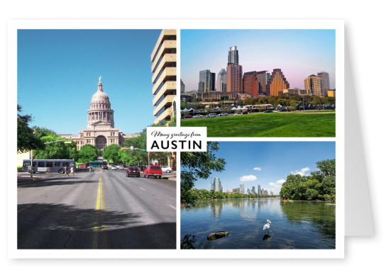 Austin's spectacular highway, capitol and skyline