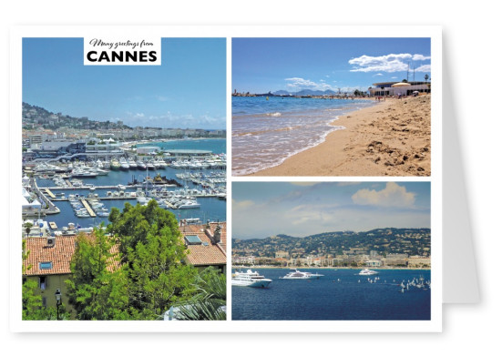 inner city of Cannes and port landscape