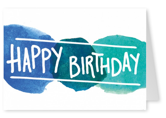 Colorful Happy Birthday Design Greeting Card