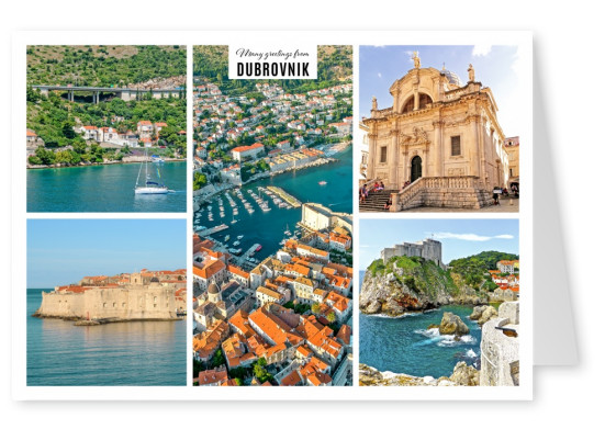 three different views from above on Dubrovnik