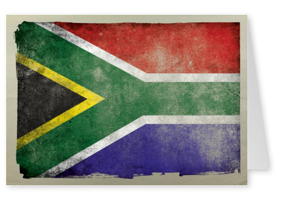 South Africa Flag grungy