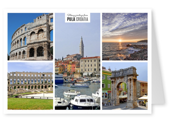 five old architectural buildings of Pula
